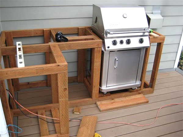 Placemaking for your backyard bbqs for Cheap kitchen carcass